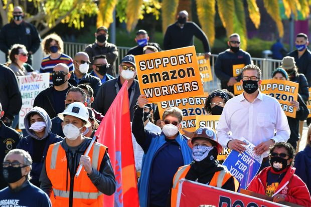 Amazon faces growing worker pressure in shadow of Alabama union vote