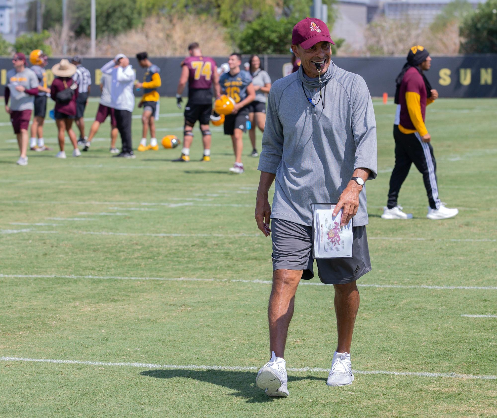 ASU football's Herm Edwards preaches adaptability with coaches on administrative leave