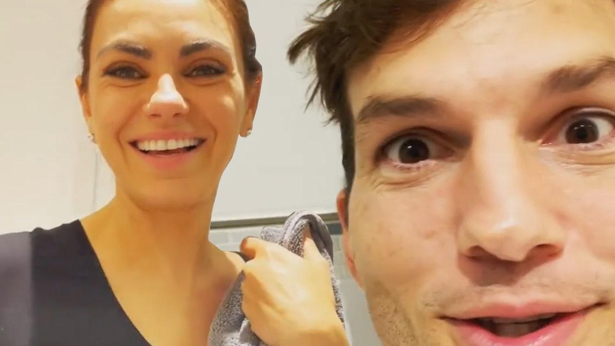 Ashton Kutcher, Mila Kunis Troll Bathing Criticism
