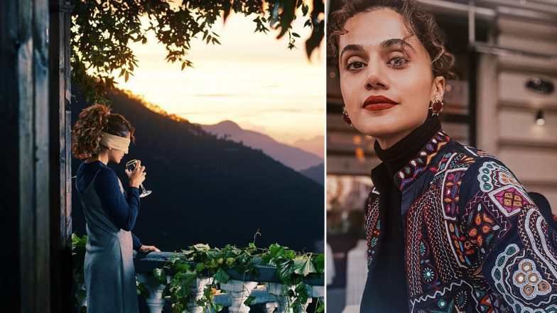 Blurr: Taapsee Pannu Shares a Glimpse of Her Character As 'Gayatri' From the Scenic Location of Her Upcoming Film (View Pic)