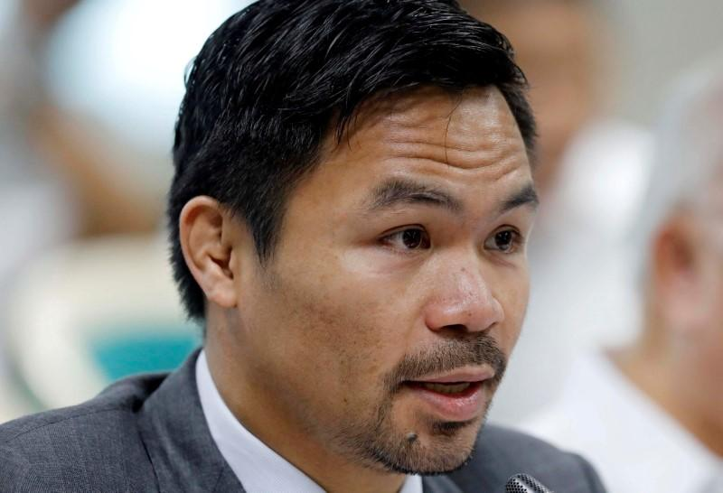 Boxing-Pacquiao not taking last-minute replacement Ugas lightly