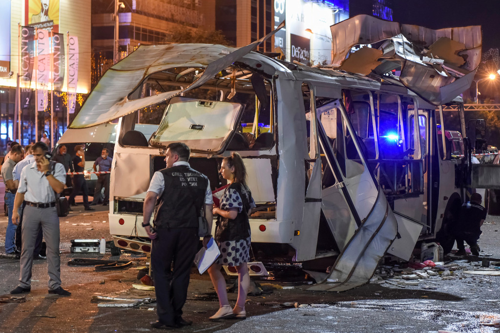 Russian bus explosion kills one, injures at least 15