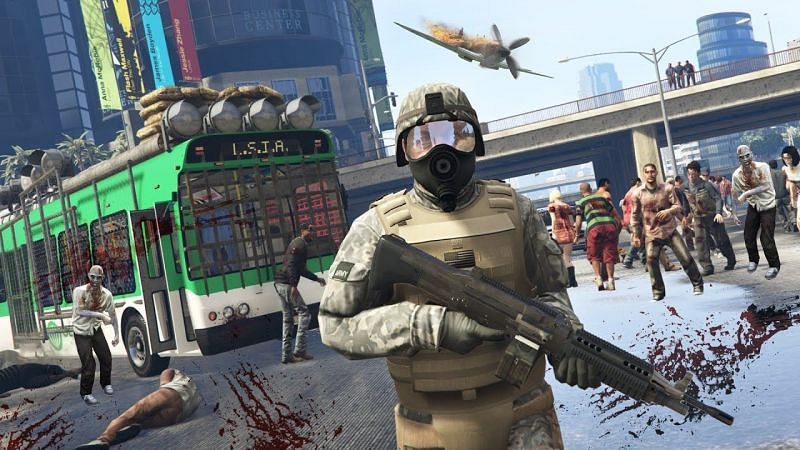 Zombies are a classic staple in the gaming industry, let alone in GTA 5 mods (Image via Typical Gamer)