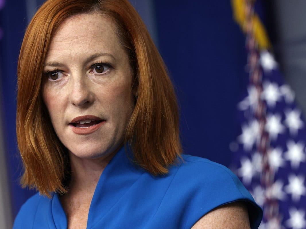 Jen Psaki said Trump suggested people 'inject versions of poison into their veins' as a COVID-19 cure in a cutting response to a Fox News question