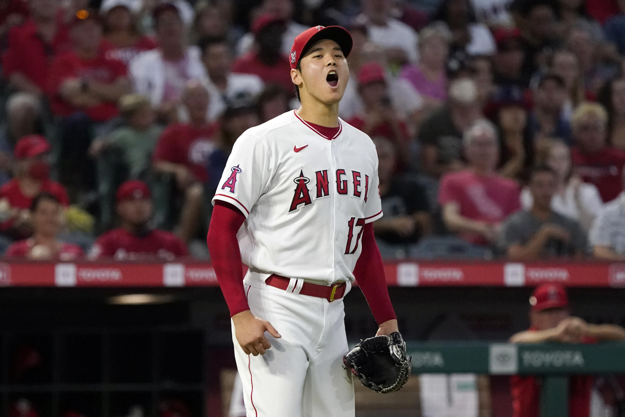 Ohtani hurls 6 innings, doubles in Angels' 6-3 win over Jays