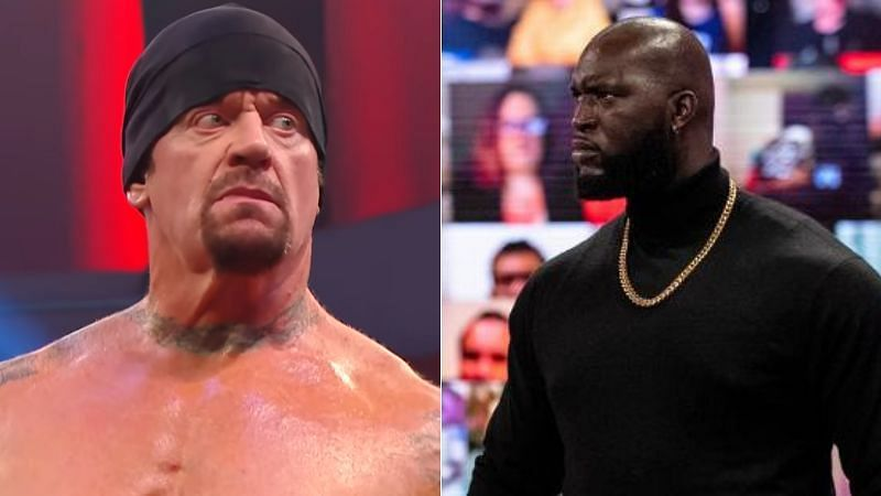 The Undertaker (left); Omos (right)