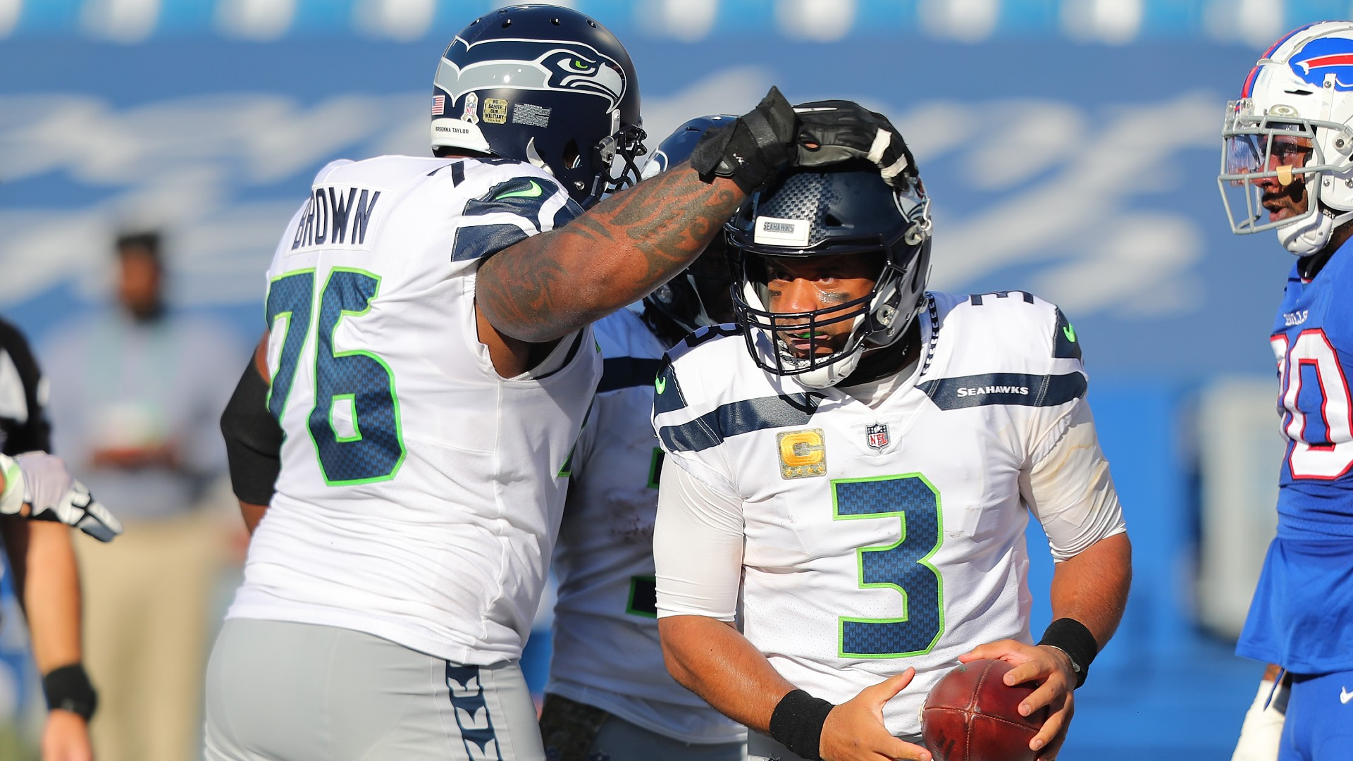 Russell Wilson weighs in on Seahawks' contract dispute with Duane Brown: 'We need' left tackle on field