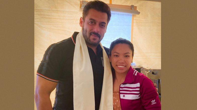Salman Khan Meets Olympian Mirabai Chanu, Gives Her Best Wishes (View Pic)