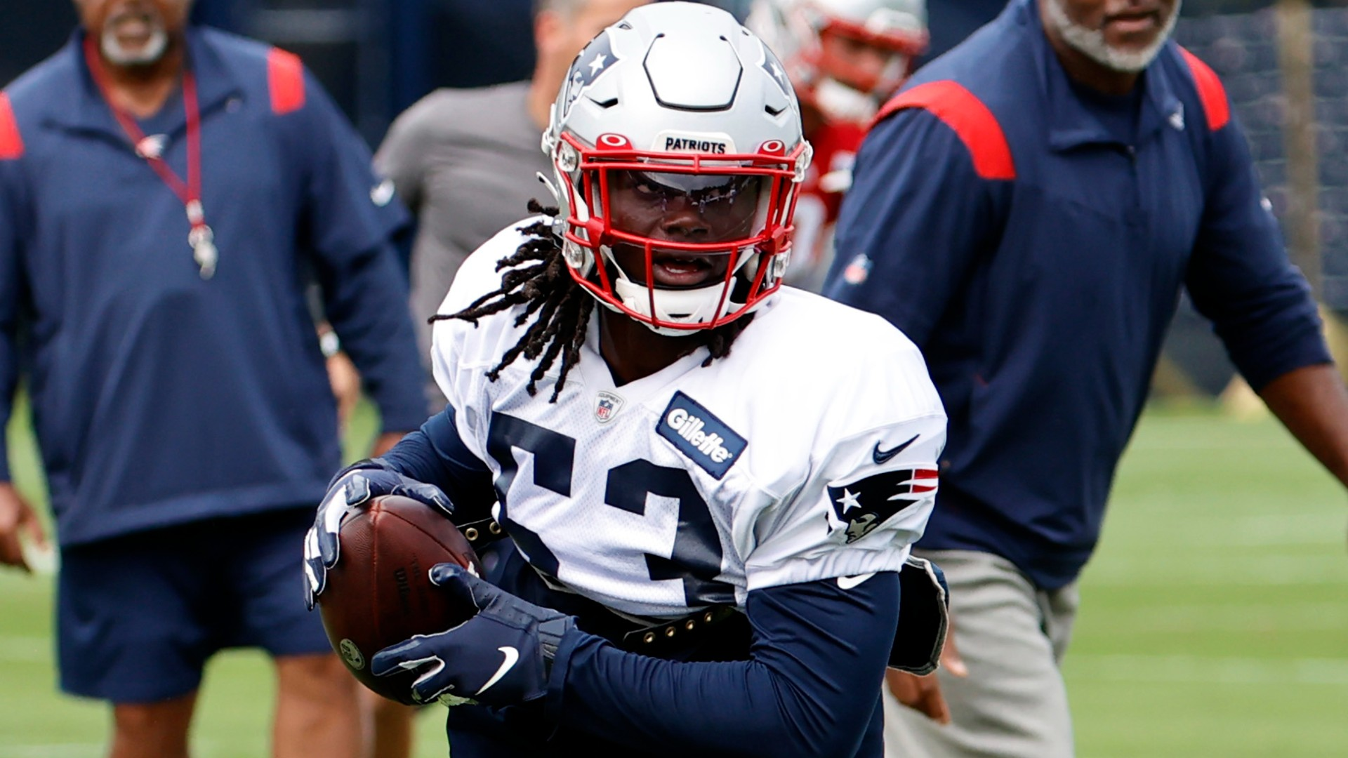Why Patriots' Rhamondre Stevenson may have trouble earning carries despite strong preseason debut