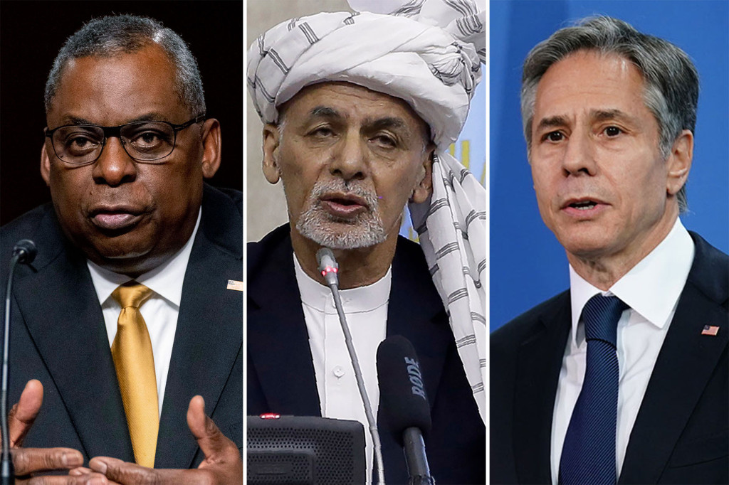 US officials talk with Afghan president Ashraf Ghani as Taliban advances