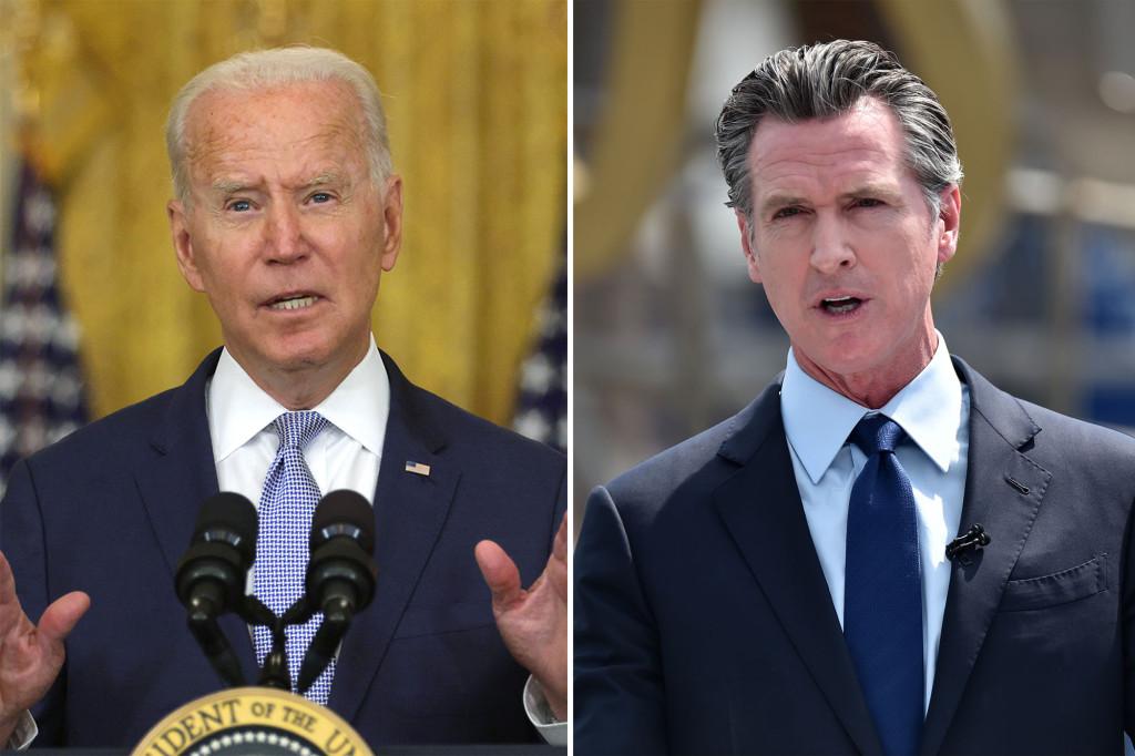President Biden urges voters to vote 'no' in Newsom's recall vote