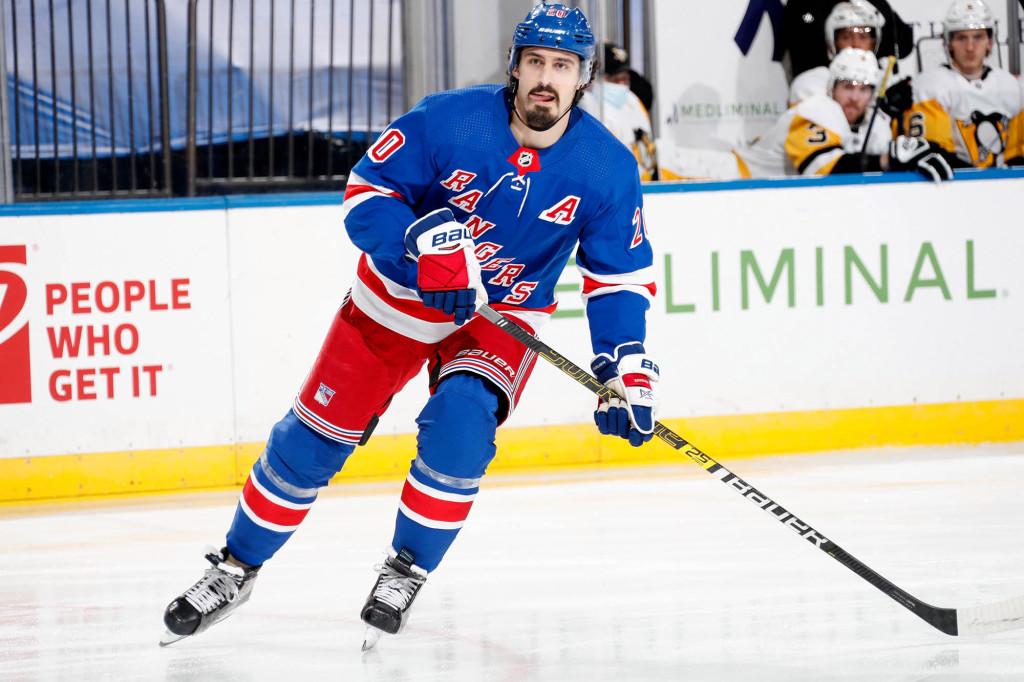 Chris Kreider skates in the Rangers