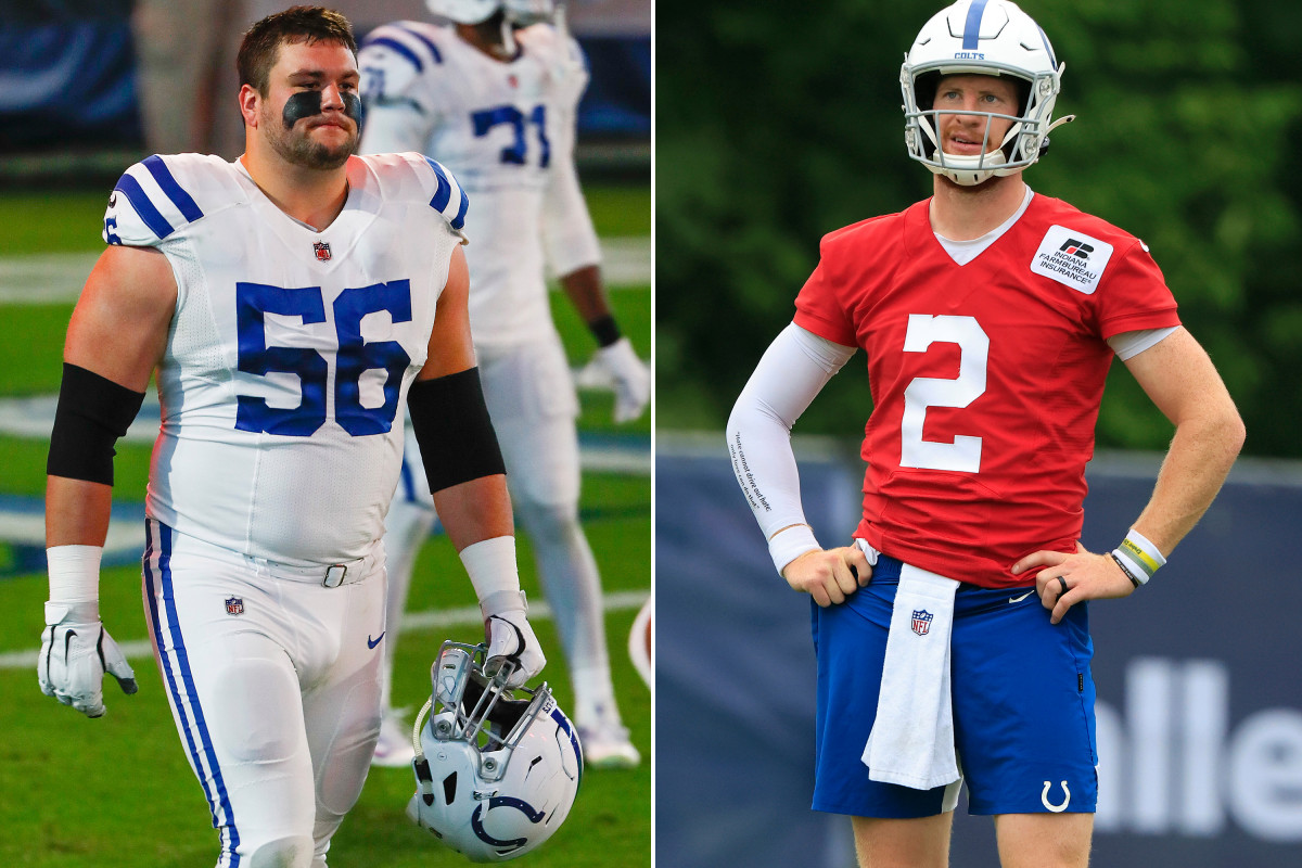 Colts' Carson Wentz, Quenton Nelson 'doing exceedingly well'